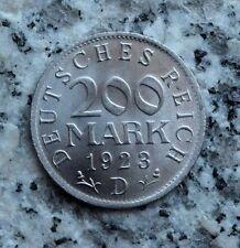200 Mark 1923 D Alu Kursmünze Weimarer Republik Notgeld - Top Erhaltung Unc. !
