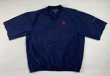 Footjoy Dryjoys Mens Jacket L Blue Short Sleeve V-neck Golf Windbreaker Pockets