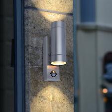 Up Down IP44 Double Outdoor GU10 Security PIR Sensor Garden Yard Wall Light Lamp
