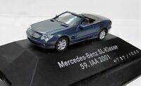 Herpa 1:87 Mercedes Benz SL 500 Klasse R230 OVP topasblaumetallic IAA 2001