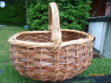 COLLECTABLE : LARGE WICKER BASKET : REALLY STURDY !!