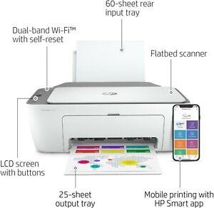 NEW HP DeskJet 2722 All-in-One Wireless Color Inkjet Printer