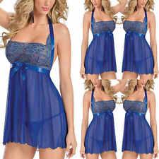 Femmes Lingerie dentelle Robe Robe nuisette chemise nuit vêtements nuit String