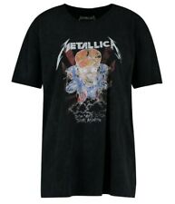 Metallica Washed Slogan T-Shirt
