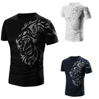 Hombre Equipo Manga Corta Camiseta Verano Algodón Informal a la Moda Blusa
