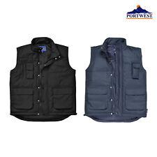 Portwest Men's Classic Bodywarmer S415- Sleeveless Warm Outerwear Polyester Vest