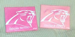 Original NFL Carolina Panther's & Panther Girl 10 INCH Canvas Paintings