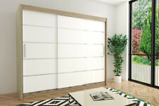 Wardrobe VERONA 1 - 250 Sliding Doors Hanging Rails Shelves New