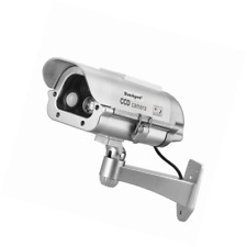 Solar Powered Cctv Security Fake Dummy Camera Cam Flash Lights Human Sensor