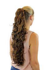 Parte capelli/Treccia Ricci 65 cm Butterfly-Clip bionda jl-4030-12