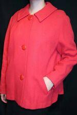 L~XL ATomic Starburst Darted SWING BACK Vtg 40s 50s Jacket CORAL Wool Short Coat