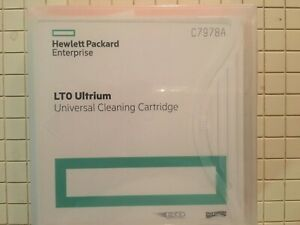 2 NEW HPE C7978A Universal Cleaning tape Cartridges for LTO 1-7  Ultrium drives