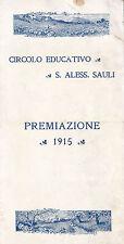 CIRCOLO EDUCATIVO S. ALESSANDRO SAULI PREMIAZIONE 1915 GENOVA 12-106