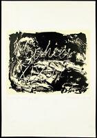 Grosse Lithographie von Laszlo LAKNER (*1936 HUN/D), handsigniert