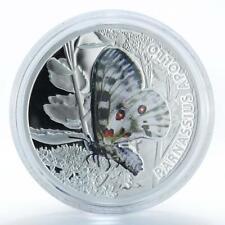 Niue 1 dollar butterfly Parnassius Apollo silver color coin 2010