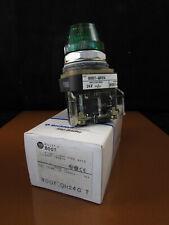 800T-QH24G - GREEN TYPE 4/13 LED Pilot Light - Allen Bradley ***new***