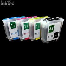 mini CISS InkTec® Tinte refill ink kit 82 11 XL BLACK YELLOW MAGENTA CYAN für HP