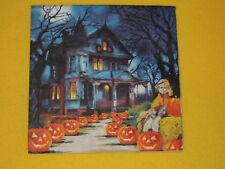 5 Servietten SPOOKY Halloween gruselig Haus Vogelscheuche Serviettentechnik Kürb
