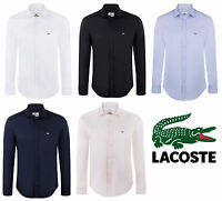 Lacoste Slim Fit Stretch Cotton Poplin Shirts for Men