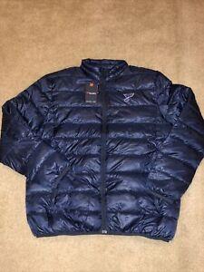 St Louis Blues Fanatics Polyester Puffer Jacket Black Men Size 2XL Brand New
