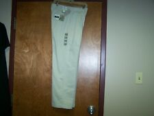 Men's DOCKERS Pants Flat Front Relaxed Fit Pleated Tan Orig $50.00 NWT W30 L30