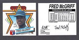 1992  Fred McGriff  SAN DIEGO PADRES  LK SPORTS MUG DECAL  NM-MT