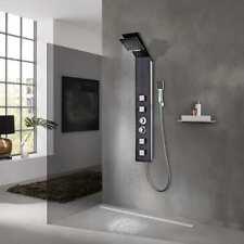 Vidaxl Sistema Pannello doccia in Vetro Marrone