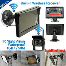 """Wireless IR Night Vision Rear View Back up Camera System+5"""" Monitor for RV Truck"""