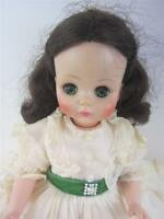 """Madame Alexander vintage Scarlett Gone with the Wind 14"""" Doll 1590 + Stand EXC"""