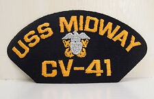 US NAVY USS MIDWAY CV-41 PATCHES SHIP BOAT NEW EAGLE