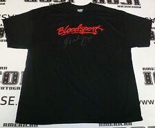 Frank Dux Signed Bloodsport Black T-Shirt PSA/DNA COA XXL Kumite Champion Auto'd