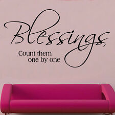 Blessings Quote Decal Vinyl Wall Sticker Art Home Sayings Popular
