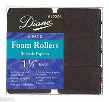 "Diane #1920B Foam Rollers 1-1/2""  6 - PACK (Black"