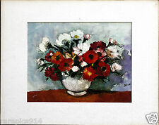 Nico Flowers in Pot Vintage Signed Oil Canvas Painting