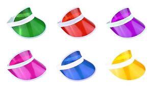 New Unisex Retro Neon Sun Visor Hat Headband Cap For Golf Tennis Stag Poker Hat