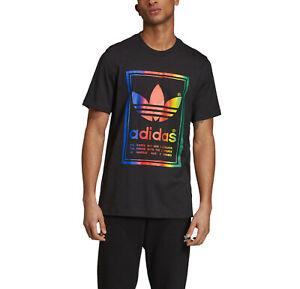 adidas Originals Men's Vintage Graphic Tee Regular Fit Cotton T-Shirt Top Black