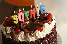 Alphabet OVER THE HILL Birthday Letter Candles Personalized Name In Lights