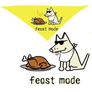 Teddy the Dog Doggie Bandana Feast Mode Thanksgiving Turkey Holiday Ltd Edition