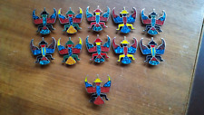 Knifewing Kachina Turquoise & Red Coral Inlay Concho Belt 11 Pieces ~ 261 Grams