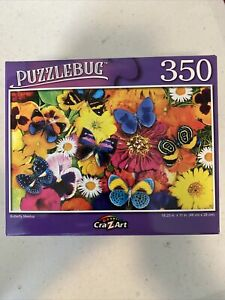 PuzzleBug 350 pc jigsaw puzzle Butterfly Meetup 18.25x11 BN **FREE SHIP**