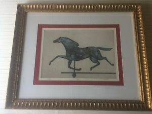 """Horse"" Limited Edition Etching Print 392/500, Signed by Artist, Framed"