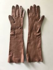 Christian Dior Womens Size 6.5 Brown Leather Gloves Soft Made In France