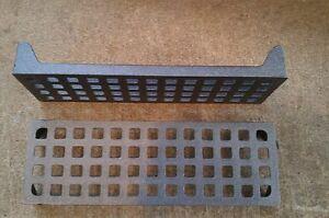 "1 x cast iron air brick traditional 9"" x 3"" 225 mm x 75mm heavy duty metal"