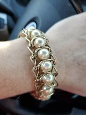 With Faux Pearls Jcrew Gold Tone Bracelet
