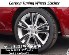 "Carbon Tuning Wheel Mask Sticker For Kia  Forte GDi / Cerato 17"" [2009~2013]"