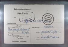 Camp Oflag IID Grossborn 1944 POW Prisoner of War Kriegsgefangenenpost (K17d)
