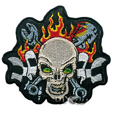 Iron//Sew on Patch No392 Lucky 13 Skull /& Crossbones
