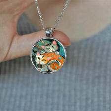 """CATS KITTEN ART PET charm pendant 20"""" Sterling Silver 925 necklace chain female"""