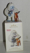 "Hallmark RUDOLPH Christmas Ornament ""A STAR IS BORN"" flocked Bumble 2010"