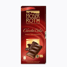 2 x Moser Roth Chocolat Delice Fillings of fine Praliné precious dark NEW